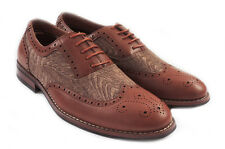 NEW FASHION MENS LACE UP WING TIP OXFORDS CASUAL LEATHER LINED DRESS SHOES/Brown