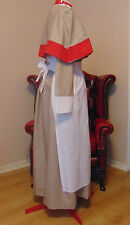 vintage nurse costume WW1 WW2 nurse style uniform DRESS APRON HEADGEAR  & CAPE