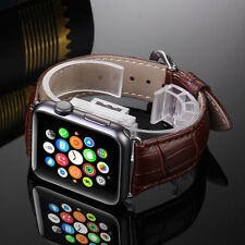 Genuine Leather Buckle Wrist Watch Band Strap for iWatch Apple Watch 42mm/38mm