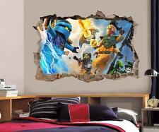 Lego Ninjago Smashed Wall Decal Graphic Wall Sticker Decor Art Mural H447
