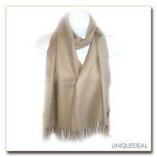 """New Fashion *D&Y* Solid Men's """"SOFTER THAN CASHMERE?"""" Scarf / Beige"""