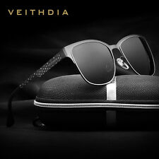 New Aluminium Polarized Sunglasses Retro Fashion Driving Mirrored Eyewear Shades