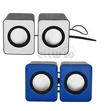 New Mini 2.0 Computer Speaker USB Power 3.5mm Jack for MP3 Phone PC Two Colors