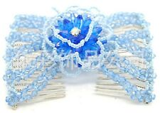 New Ez Combs Stretchable Double Combs - Large Beaded Roses Hairpin Combs