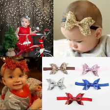 Hot Kids Girl Baby Toddler Glitter Big Bow Headband Hair Band Headwear