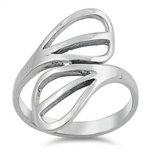 Open Cut Abstract Ring, Sterling Silver, Comfort Fit, Fancy Design, Gift Box