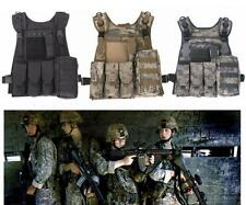 Tactical Military Battle Airsoft Bullet Combat Assault Plate Carrier Vest Gear