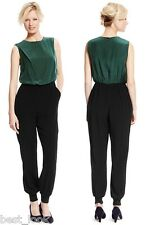 Marks and Spencer Colour Block 100% Silk Jumpsuit RRP £189 Size 8 to 18