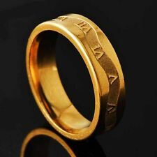 Classic Mens Unisex Yellow Gold Filled Vintage promise Ring lot Size 8,9,10,11