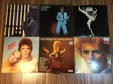 David Bowie Vinyl BUNDLE!!! Space Oddity, Man Who Sold the World, Live, Stage