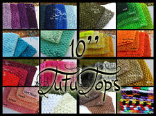 10'' tutu tops (fits 5 years to small adults) 50+ colors crochet tube tops