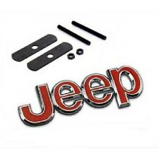 JEEP RED Car Hood Front Grill Badge  Emblem Metal  For JEEP