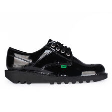 Womens Kickers Kick Lo Black Patent Leather Shoes