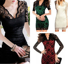 Womens Short & Long Sleeve Bodycon Sexy Party Dress Club Cocktail Modern S-XL