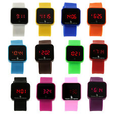 Colorful Unisex LED Digital Touch Screen Silicone Wrist Watch BF