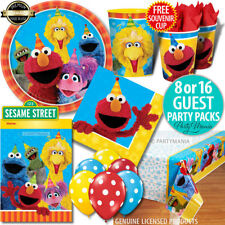 SESAME STREET BIRTHDAY PARTY SUPPLIES NAPKINS PLATES CUPS BALLOONS PARTY PACKS