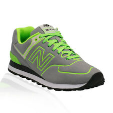 New Balance - 574 Classics (Neon Collection) Casual Shoe - GREY/GREEN