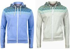 Brave Soul Mens Blue Beige Marl Zip Up Hoody Hoodie Jacket Jumper Size S M L XL