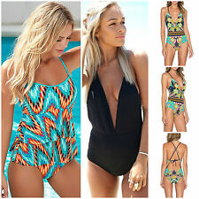 Womens Fashion Strap One Piece Push Up Padded Bikini Monokini Swimsuit Swimwear