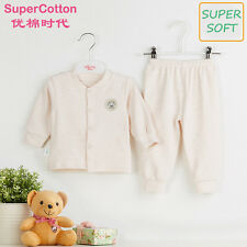 New Newborn baby infant 0-2Y outfit sets boy girl kids clothes pink blue cotton
