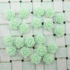 Hot 30pcs 7 Colors Resin Rose Flower flatback Appliques For DIY phone/craft