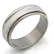 Fashion jewelry White Gold Plated Stainless Steel Mens Ring size 7 8 9 10 11