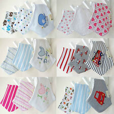 3pcs Baby Kids Girls Bandana Bibs Boys Triangle Head Scarf Saliva Towel Dribble