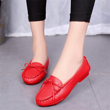 New Womens Shoes Ballet Flats Fashion Leather Oxfords Loafers Moccasins Casual