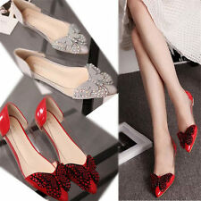 Womens Rhinestone Butterfly Ballet Flats Transparent Patent Leather Oxfords Shoe