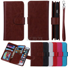 Luxury PU Leather Cash Card Slot Bag Wallet Case Cover For iPhone Samsung HTC LG