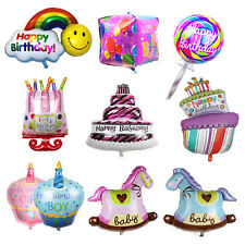 Happy Birthday Cake Shape Foil Helium Balloon  Birthday Party Decoration Mylar