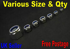STEEL NYLOC LOCK NUT NYLON INSERT SELF LOCKING A 2 STEEL GRADE DIN985