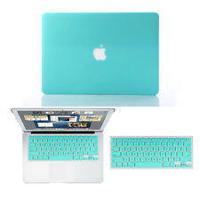 "Tiffany Rubberized Hard Case+Keyboard Cover for Macbook Pro 13/15 Air 11/13""inch"