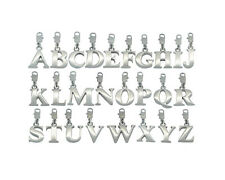 Stainless Steel Alphabet Initial Charm Letter A to Z UK