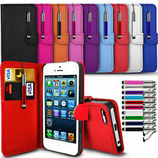 Apple iPod touch 6th Gen (2015) - Flip Wallet Book Case & Retractable Stylus