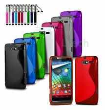 Vodafone Smart Ultra 6 - Silicone S-Line Wave Gel Rubber Case Cover &Ret Pen