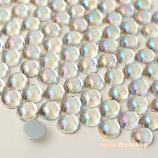 Clear AB (2mm-12mm) Dome Hemisphere Acrylic Flatback Rhinestones Scrapbook Craft