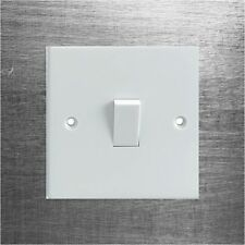 Brushed/Scratched Metal Effect Electrical Light Switch Surround Printed Sticker
