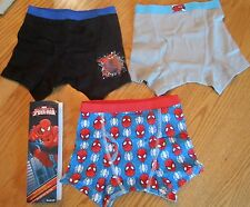 The Amazing Spider-Man Boys Boxer Briefs 3 Pack Marvel Comics Brand New
