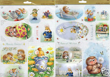 Docrafts Country Companions Sunshine Meadows A4 Die Cut Toppers Easter Birthday