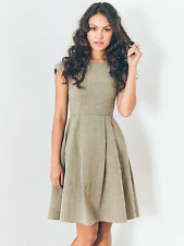 Ash & Rose Dear Lucy Dress Fit & Flare Cotton Pleated Cap Sleeves Mata Traders