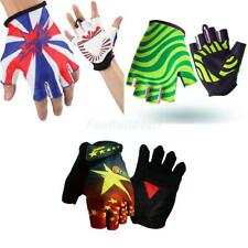 Cycling Bicycle Motorcycle Bike Gel Padded Half Finger Fingerless Gloves Sports