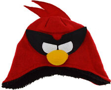 Boys Angry Birds Space Red Bird Fleese Lined Beanie Winter Hat