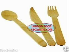 BIRCHWOOD WOODEN CUTLERY FORKS / KNIVES / SPOONS . DISPOSABLE & BIODEGRADABLE