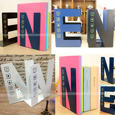 2PCS Iron E&N Anti-skid Bookends Shelf Book Stand Holder Home Office Stationer