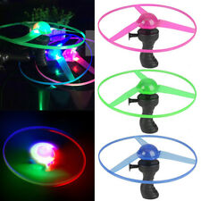 Spin LED Light Frisbees Boomerangs Flying Saucer Helicopter UFO Outdoor Toy 1/5x