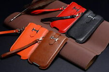 New Genuine Real cowhide Leather Pouch/Sleeve Case Cover For iPhone 5 5C 5S SE