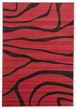 NEW Modern Sand Dune Pattern Rug Red Black Floor Pattern Rug Carpet