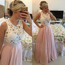 New Graceful Ladies Lace Evening Party Ball Prom Gown Formal Cocktail Long Dress