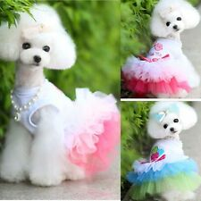 Elegant Small Dog Cat TUTU Dress Pet Puppy Bowknot Princess Clothes Apparel Gift